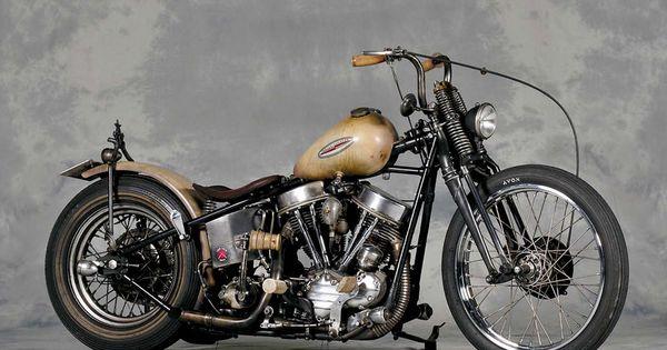 1956 Harley Davidson FLH Panhead Bobber