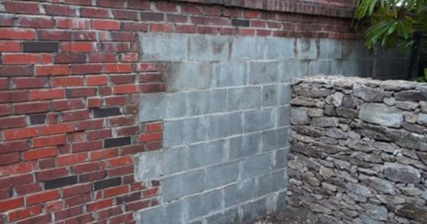 For the shed in the back yard paint a concrete blocks to for Faux brick edging