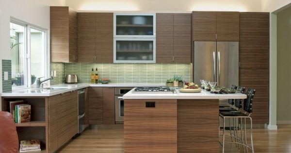 moderne k che kochinsel essplatz gr ne fliesenspiegel dise o cccina pinterest k che. Black Bedroom Furniture Sets. Home Design Ideas