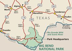 Directions Transportation Big Bend National Park National Park Vacation Big Bend