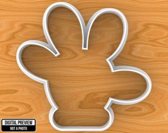 Mickey Or Minnie Mouse Hand Cookie Cutter Selectable Sizes Cortadores De Galletas Minnie Y Mickey Mouse Galletas Minnie