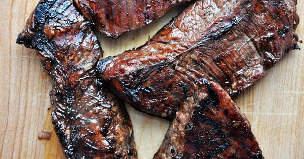 Grilled Flank Steak With Tomatoes, Red Onion And Balsamic Recipe ...