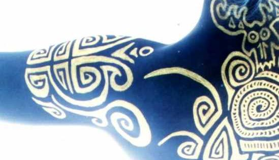 celtic woad maybe these warriors paint themselves blue and draw patterns on themselves. Black Bedroom Furniture Sets. Home Design Ideas