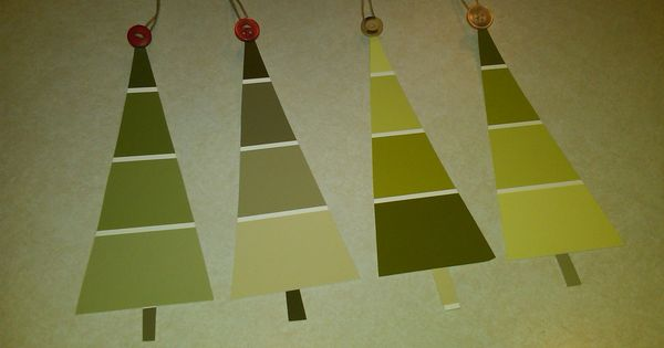 Such a great idea and so simple!! Paint swatches into gift tags,