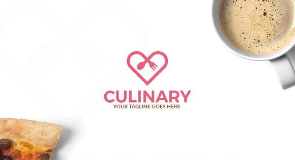 Culinary Logo – inspired by love and food for cafe and restaurants.