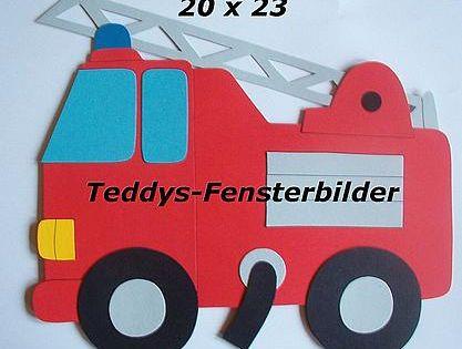Fensterbilder 253 Feuerwehrauto Tonkarton Kaufen Bei Hood De Feuerwehrauto Feuerwehrauto Basteln Auto Basteln