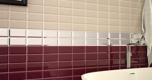 Metro Burgundy Wall Tile 200x100 Tiles Pinterest