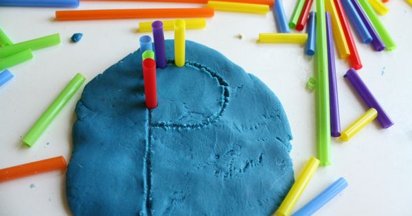 Tactile graphics on the fly- draw in play dough and mold shapes