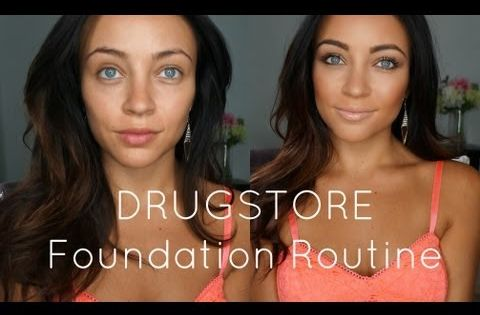 DRUGSTORE Foundation Routine! Besides ELF, we have all the other items mentioned