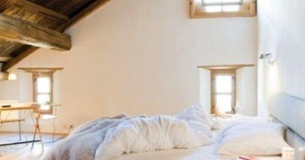 Droom slaapkamers slaapkamer met schuin dak slaapkamer pinterest slaapkamers - Slaapkamer lay outs ...