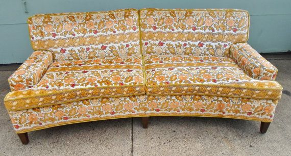 Vintage Conversation Sofa Couch Davenport By Alsredesignvintage 915 00 Vintage Sofa Vintage Couch Couch