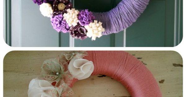 50 Beautiful Yarn Craft Tutorials {yarn wreaths, pom poms, decor}