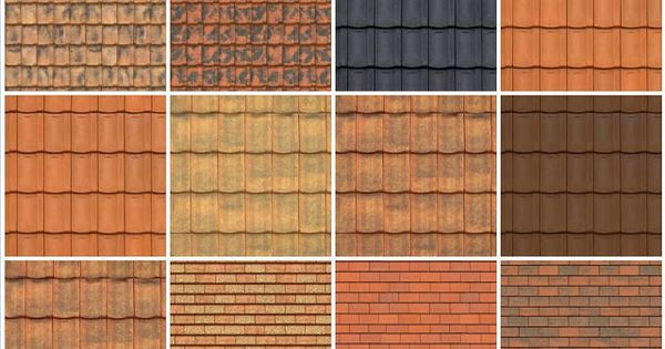 Tileable Texture Clay Roofs 4c Sketchup Texture