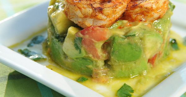 AVOCADO CHOPPED SALAD with Cilantro Lime Vinaigrette Grilled Shrimp Avocado Square