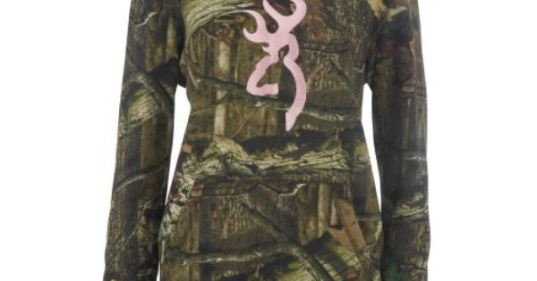 Browning Women's Mossy Oak Infinity Camo Hoodie with Buckmark for those country