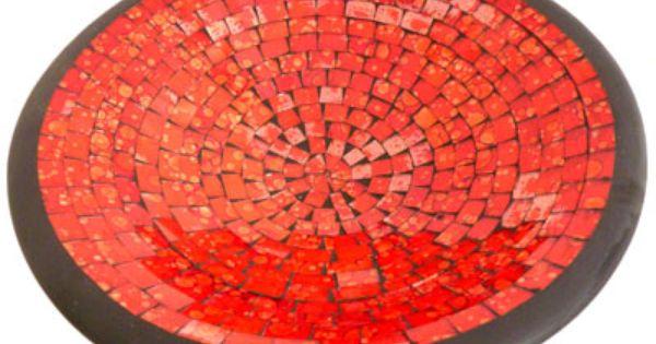 Mozaik Schaal Uit Restjes Glas Keramiek Uit Indonesie Fair Trade Decoratie Glas Verlichting
