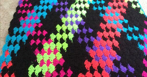 Neon Stripes Red Heart Yarn Plan Pooling Crocheting