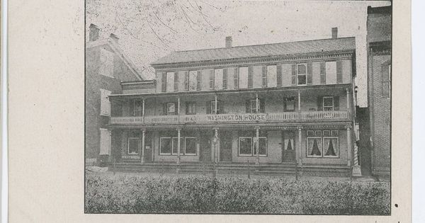 Washington House Hotel Middleburg Pa Vintage Pennsylvania Snyder County Postcard And Historical Photos