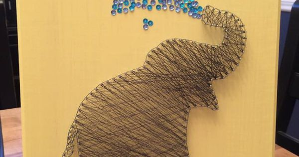 Elephant String Art - so need to make this ...