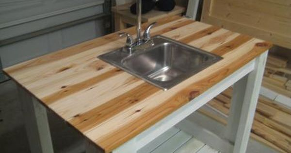 My Simple Outdoor Sink Do It Yourself Home Projects From Ana White Outdoor Kitchen Sink Kitchen Sink Design Outdoor Sinks