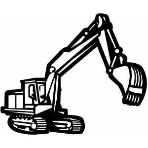 Backhoe In Work Coloring Page Construction Signs Printable Construction Signs Coloring Pages