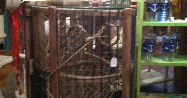 Lobster Trap Turned Table Awesome Junkin Find Junkin