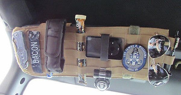 Tactical Molle Sun Visor Panel Organizer Coyote Tan Airsoft Paintball Car Camping Organization Jeep Accessories Airsoft Gear