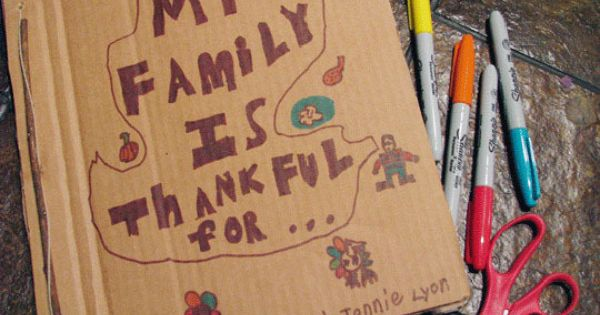 DIY: Thanksgiving Family Gratitude Journal | Inhabitots