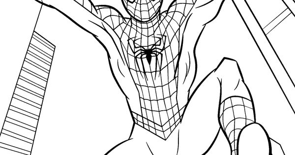Spider Man Jumps Coloring Pages For Kids Printable Free
