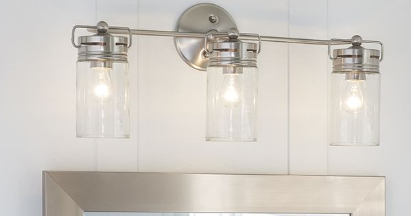Bathroom Vanity Lights Height allen + roth 3-light vallymede brushed nickel bathroom vanity