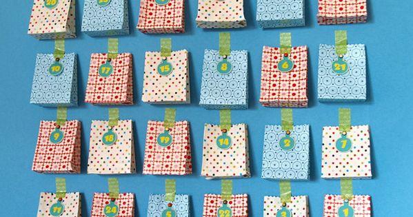 adventskalender basteln aus papiert ten weihnachten. Black Bedroom Furniture Sets. Home Design Ideas