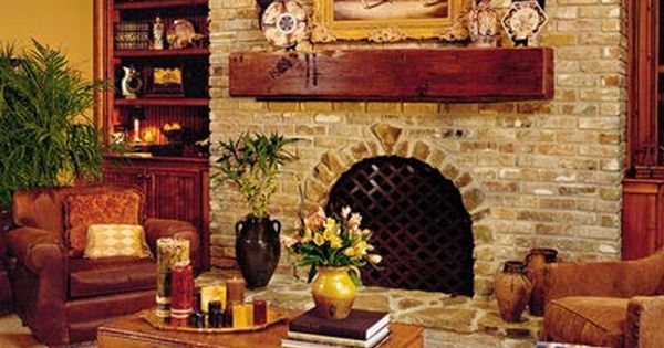 The Warmth Of Brick Warm Wood Lots Of Brick And Rich Furnishings