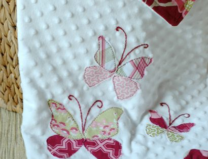 Butterfly Applique Baby Blanket tutorial