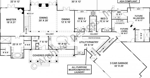 in law suite plans luxury ranch house plan with accessible in suite 18784