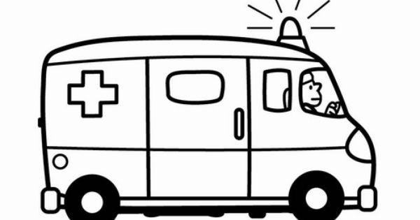 Kleurplaat Ziekenwagen Figuurzagen Pinterest Het