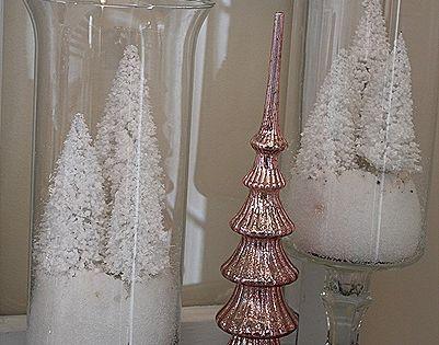 Tiny Fake Christmas Trees