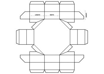 Octagon Boxes Paper Box Template Pizza Box Design Love Coloring Pages