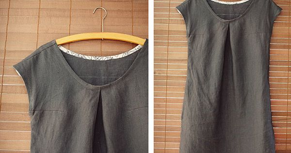 *Free pattern. Colette Sorbetto top/dress.
