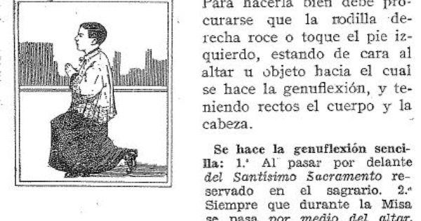 Genuflexion Seminarista Catecismo Catequesis