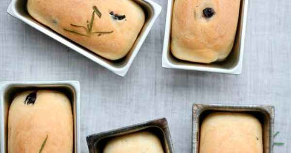 Olive & Rosemary Mini Breads | Artisan Breads | Pinterest