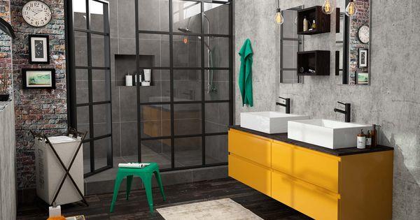 Meuble de salle de bain cedam gamme gloss meuble jaune for Cedam salle de bain