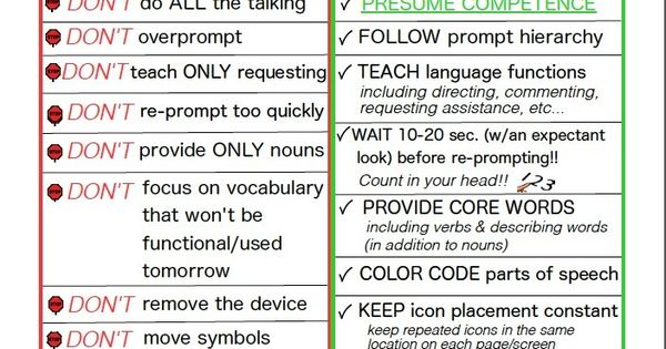 Ideas for aac users to learn vocabulary