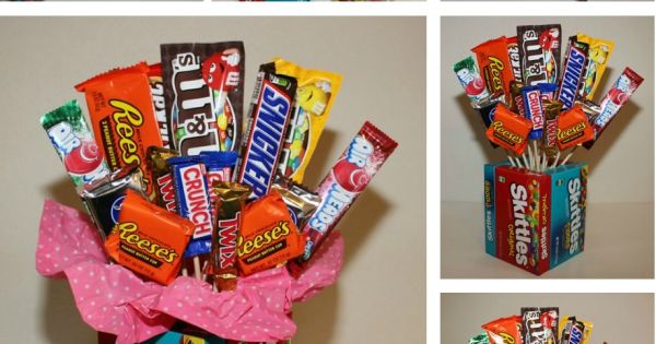 A fun gift basket to create for the candy lover.