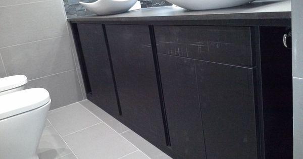 Mueble De Ba O En Formica Negro A Medida Muebles De Ba O
