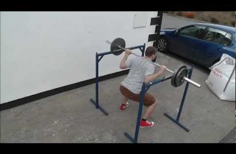 Homemade squat rack and dip station home street workout for Squat station