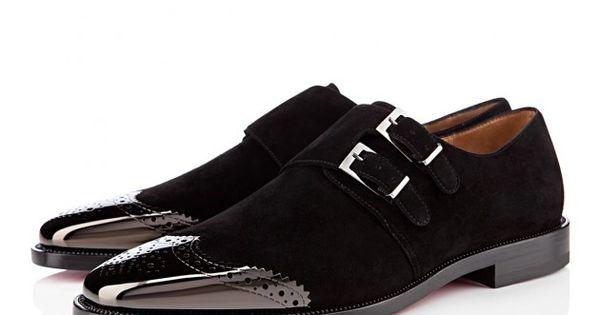 death-de-dior: CHRISTIAN LOUBOUTIN Gareth metal-capped suede shoes ...