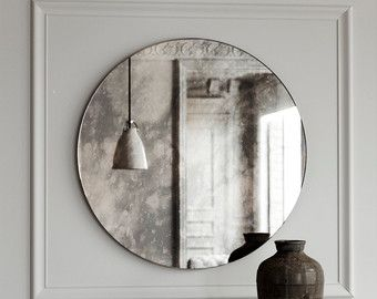Cloudy Antiqued Mirror Made With Handmade Antiqued Mirror And