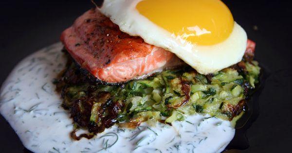 Sockeye salmon, Zucchini pancakes and Salmon on Pinterest