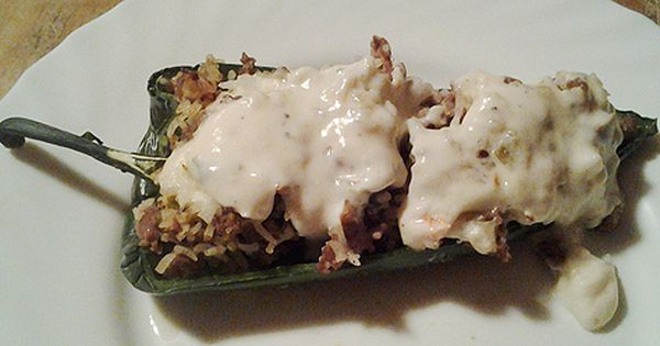 Southwest Stuffed Poblano Chile Pepper Recipe To Die For Stuffed Peppers Southwest Recipes Mexican Food Recipes