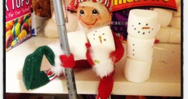 Snowman: Sneaky sneaky little elf, sitting on this tall tall shelf ...